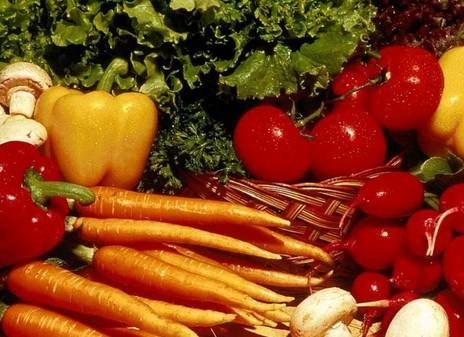 绿色食品胡萝卜和西红柿