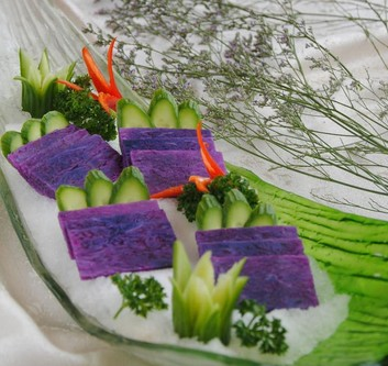 绿色食品紫山药