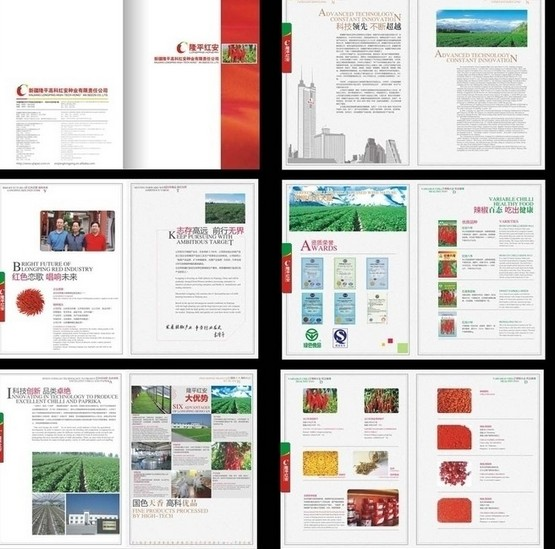 农业画册矢量图