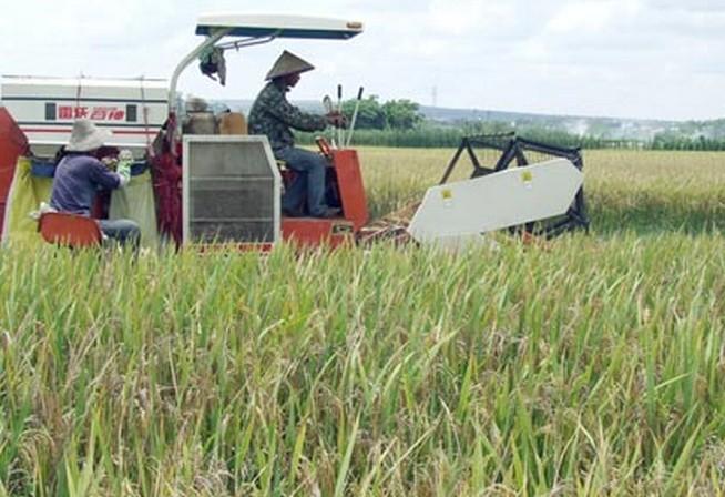农业机械正在耕种