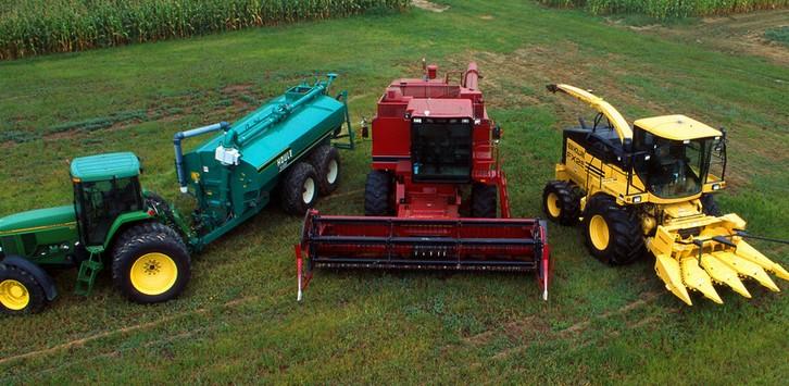 农业收割车三辆