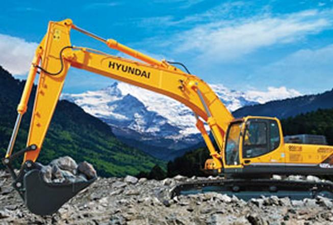 【挖掘机图片】现代R485LC-9挖掘机