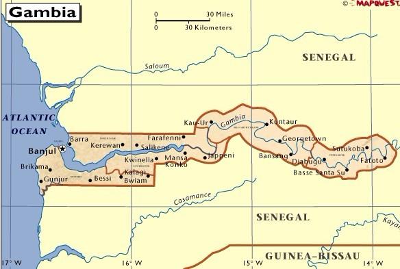 冈比亚地图查询_冈比亚地图地理位置