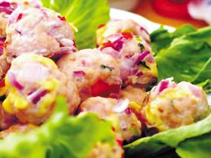 酥豆香菜蛋的家庭制作方法