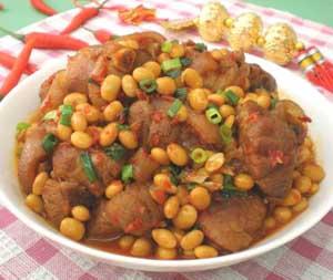 泡椒黄豆肉的做法