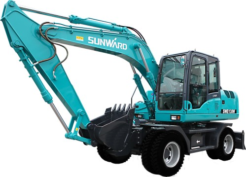山河智能SWE130W轮式小型挖掘机详细参数介绍
