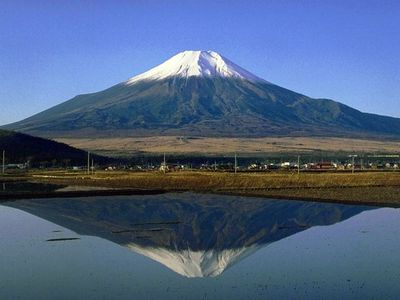 日本的神圣山峰富士山