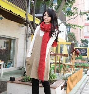 时尚韩式围巾的各种围法