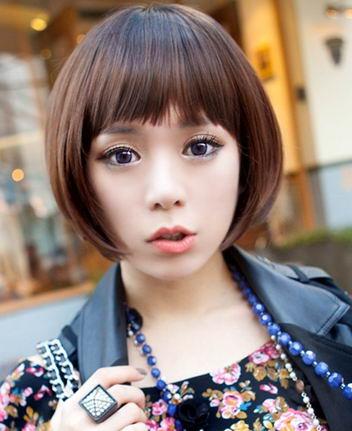 韩式女生秀秋冬季短发经典发型 让人眼前一亮