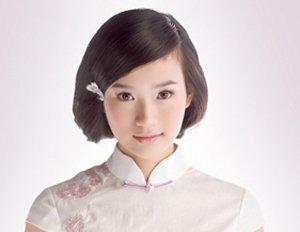 旗袍发型_短发波波头的设计