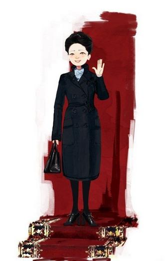 彭丽媛简介_超萌可爱漫画第一套造型
