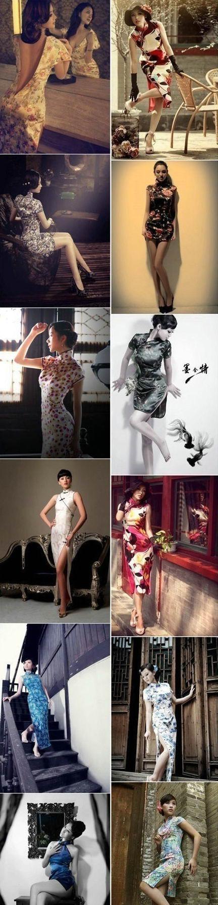 旗袍也可以那么性感,旗袍是中国一伟大发明,应该将其发扬广大!