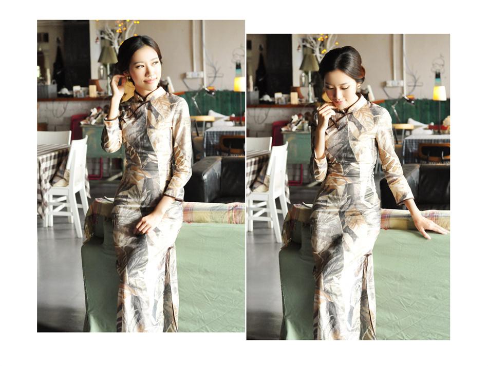 亚麻旗袍7