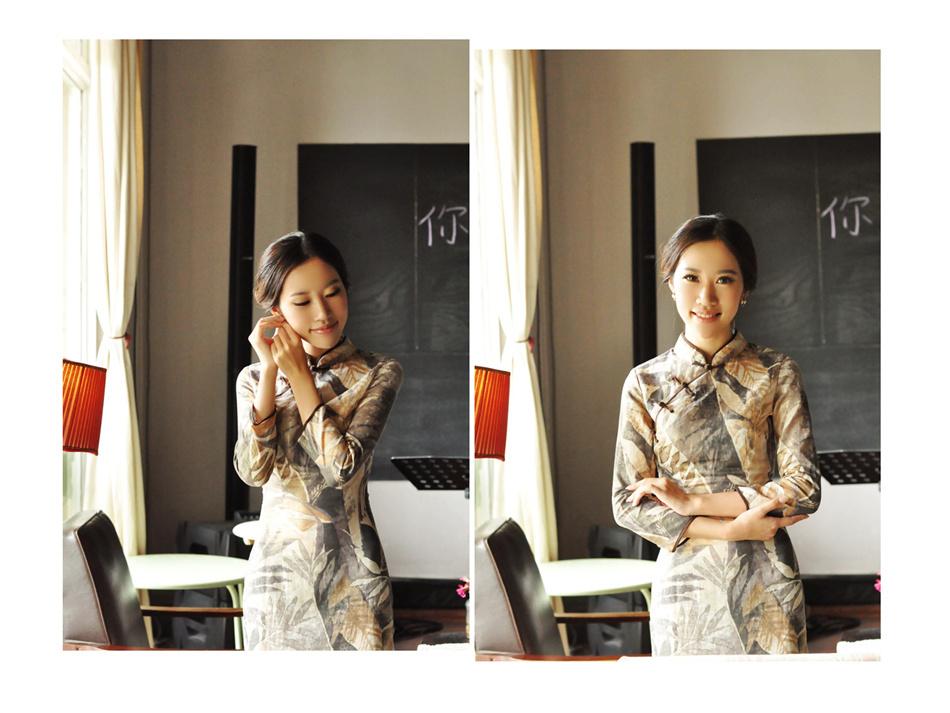 亚麻旗袍伊曼2