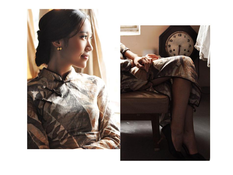 亚麻旗袍9