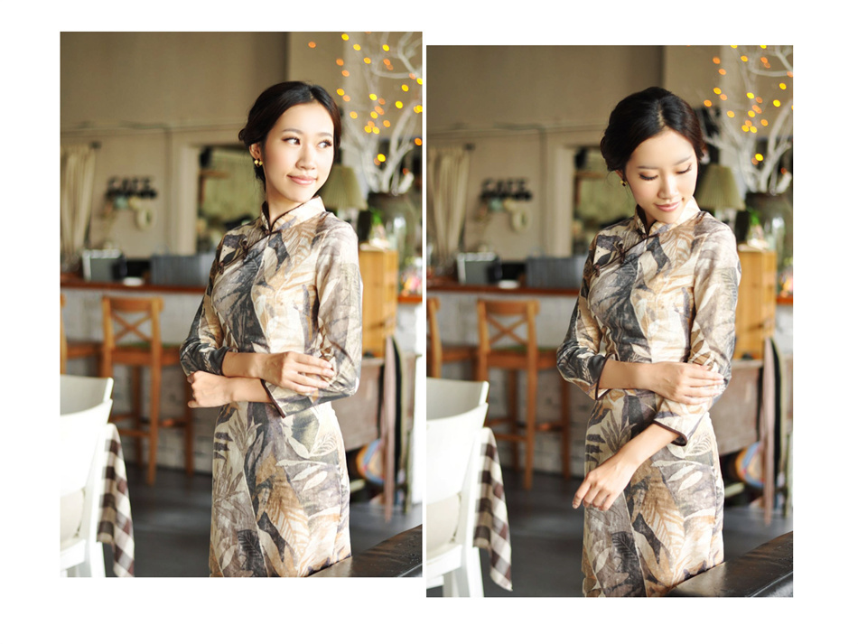 亚麻旗袍8