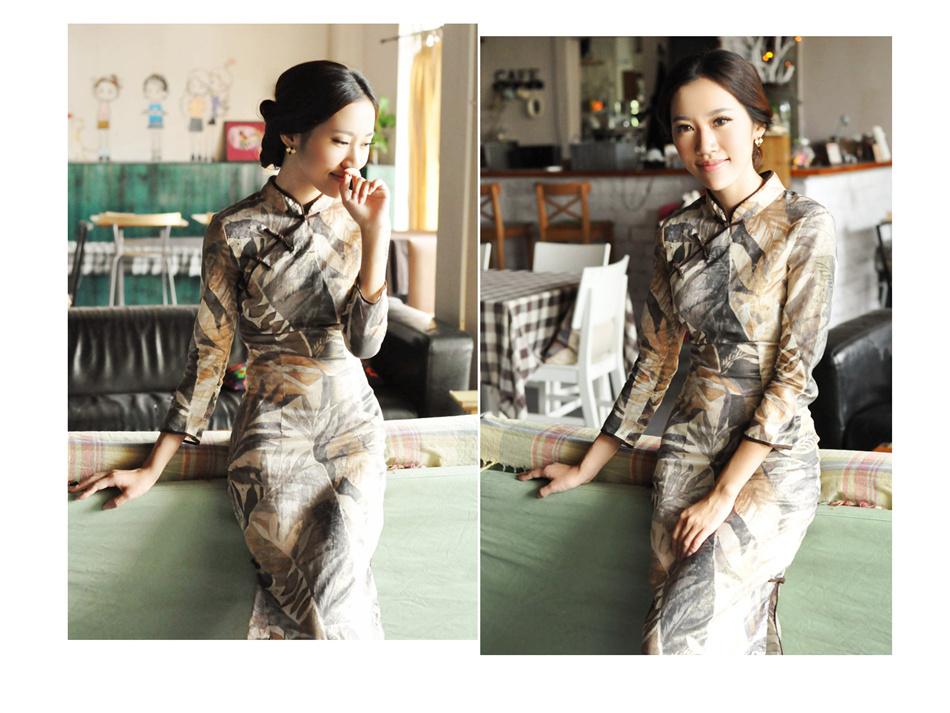 亚麻旗袍6