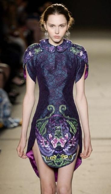 成衣、礼服、旗袍合而为一的精彩设计1