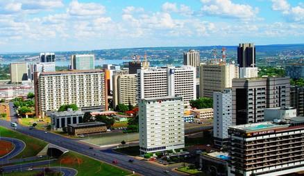 巴西的建筑风景鸟瞰