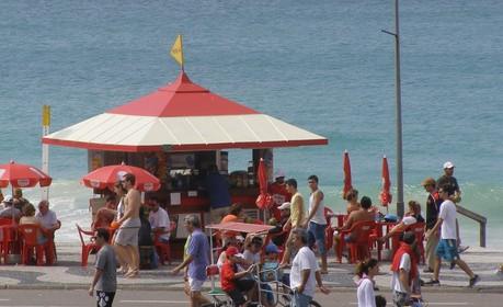 巴西海滩的游人