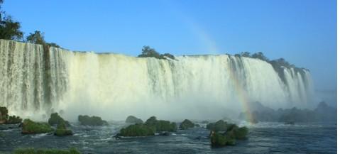 巴西瀑布景色