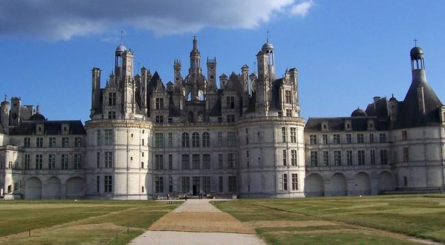 法国的古城堡图片