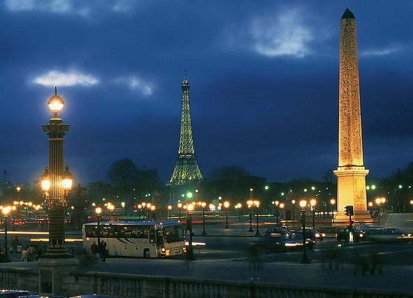法国夜景图片