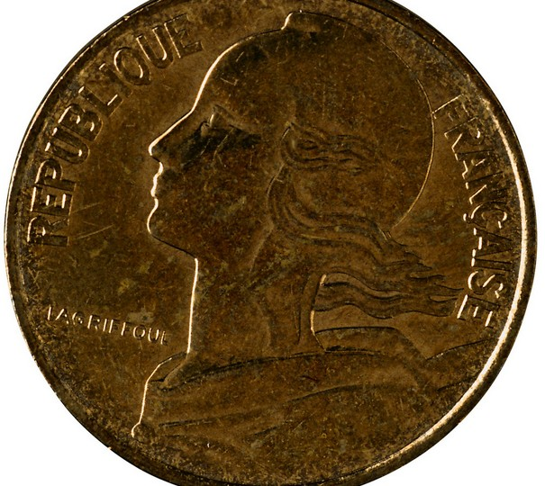 法国硬币摄影图