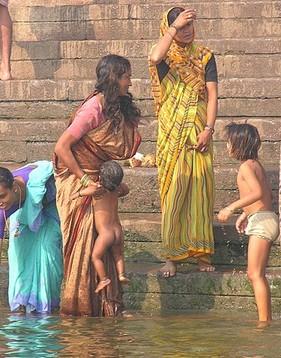 印度的儿童的玩耍