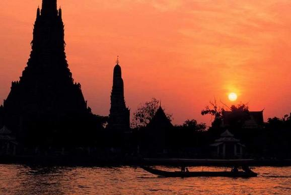 印度的夕阳风景