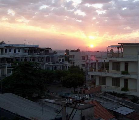越南傍晚时候的风景