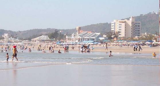 越南的海滩边