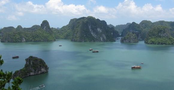 越南的山水风景