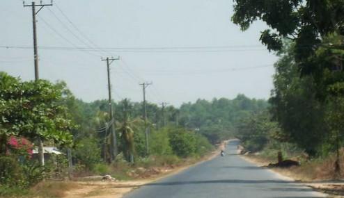 越南的乡村小道