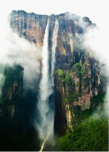 委内瑞拉天使瀑布_被上帝遗忘的瀑布