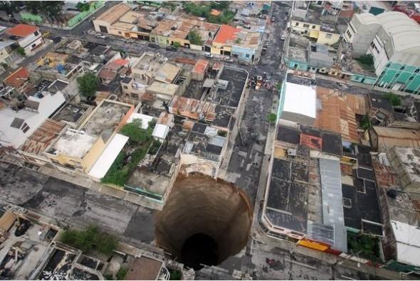 专家揭开危地马拉天坑产生的原因