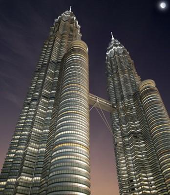首都吉隆坡是位于东南亚的一个国家马来西亚